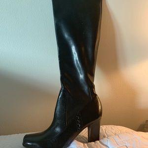 Franco Sarto Black High Heel Boots